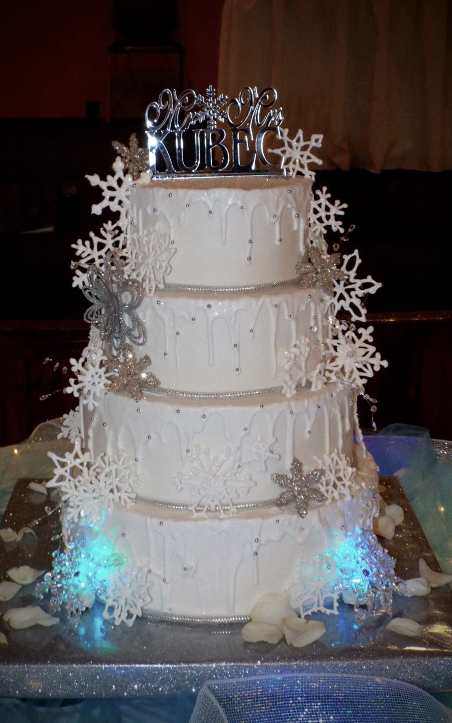 Royal Icing Snowflake Cake  CakeCentralcom