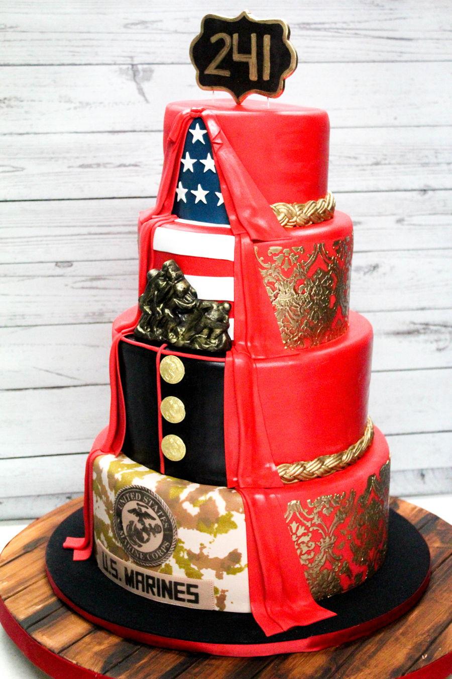 Usmc Birthday Cake  CakeCentralcom