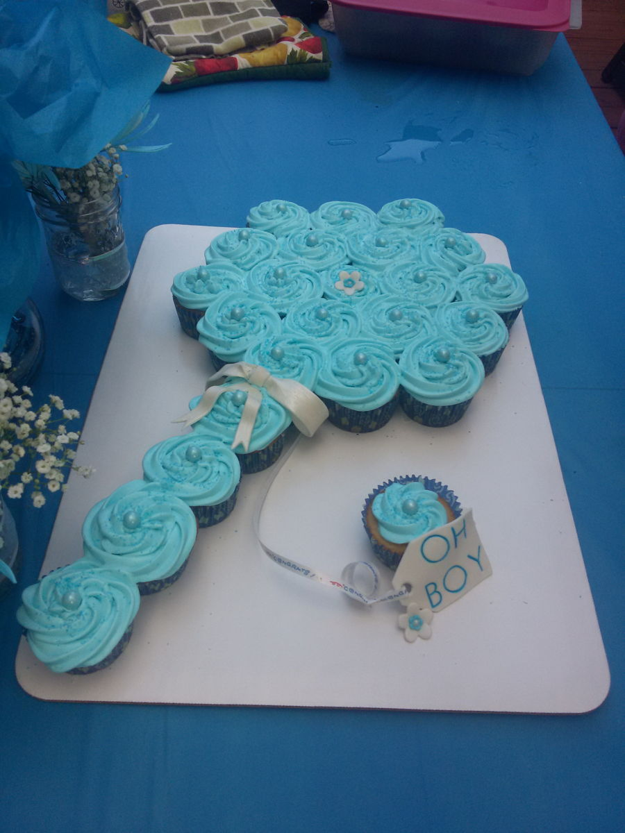 Baby Shower PullApart Rattle Cake  CakeCentralcom