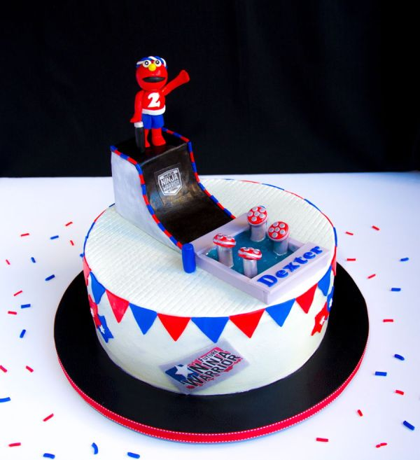 Ninja Warrior Themed Birthday Cake - Year of Clean Water