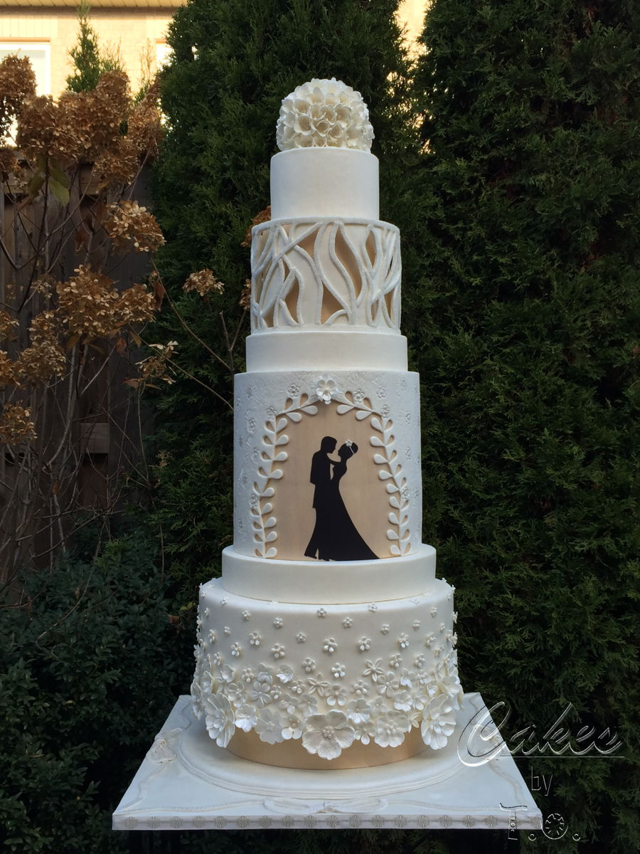 Modern Wedding Cake Inspired By Fashion - CakeCentral.com
