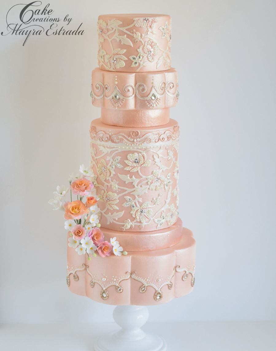 Sri Lanka Inspired Wedding Cake Cakecentral Com