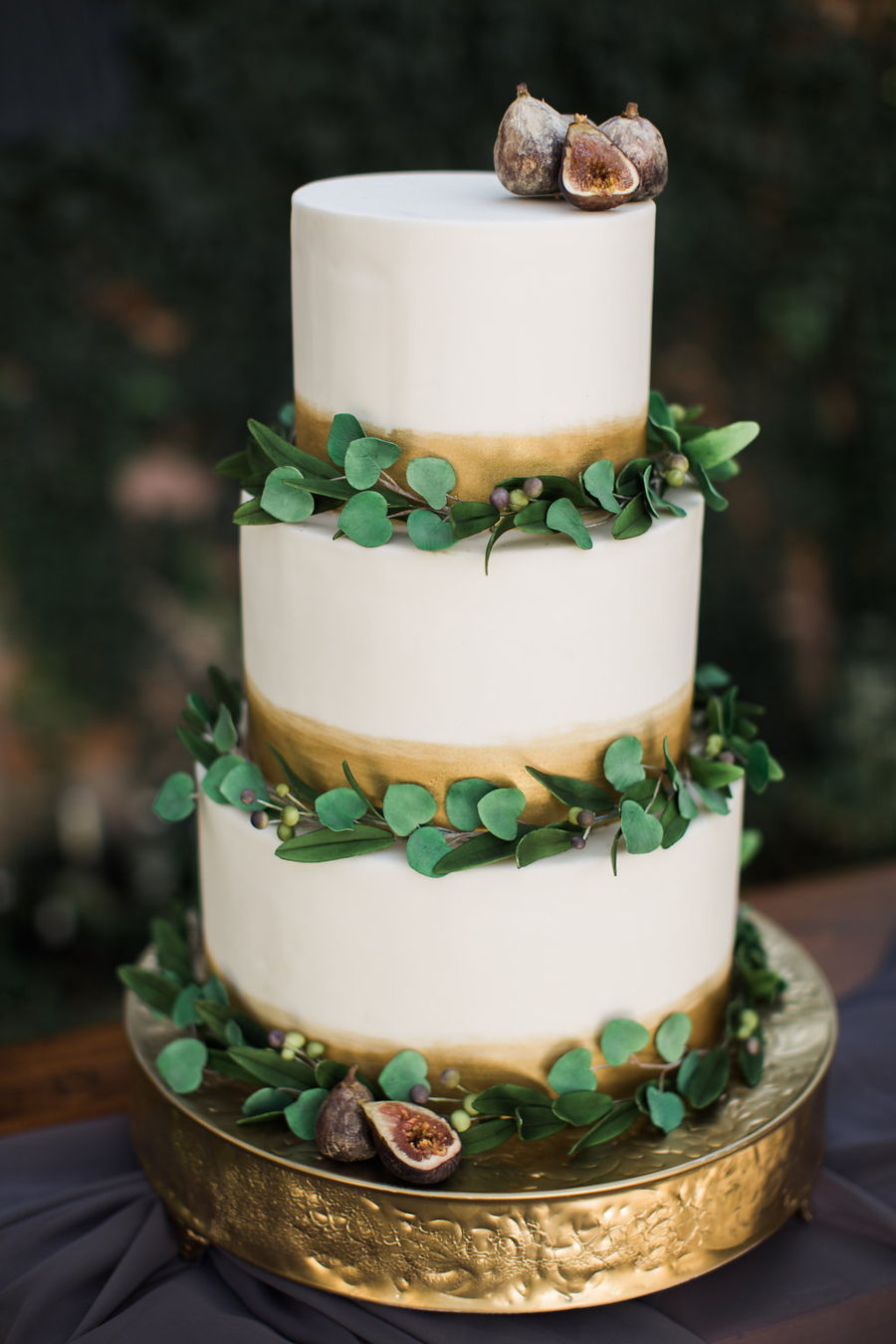 Eucalyptus Fig And Olive Leaf Cake  CakeCentralcom