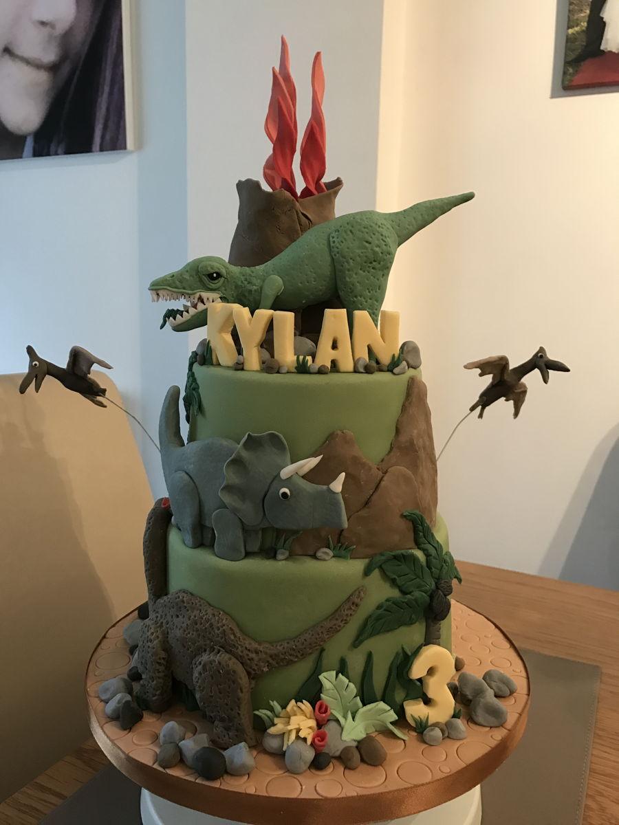 Dinosaur Cake  CakeCentralcom