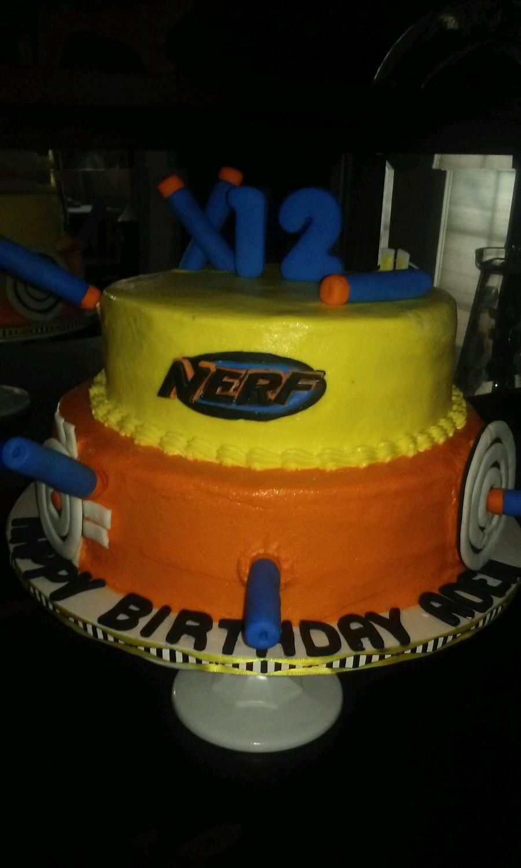 Nerf Birthday Cake Cakecentral Com