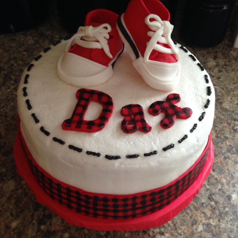 Red And Black Plaid Baby Cake Cakecentral Com