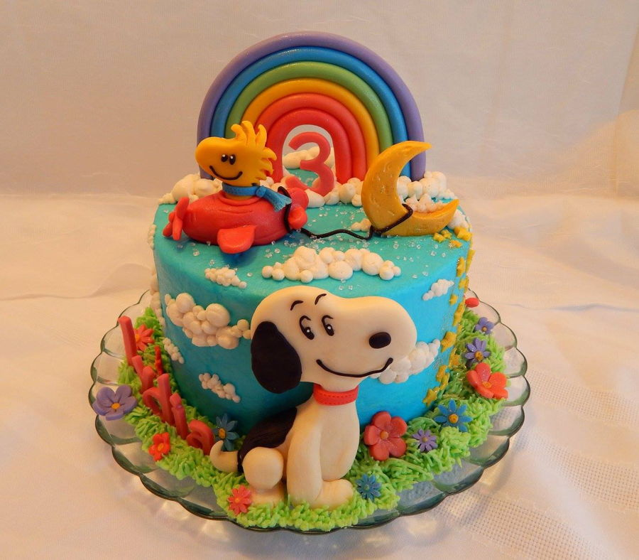 Snoopy And Woodstock Cake - CakeCentral.com