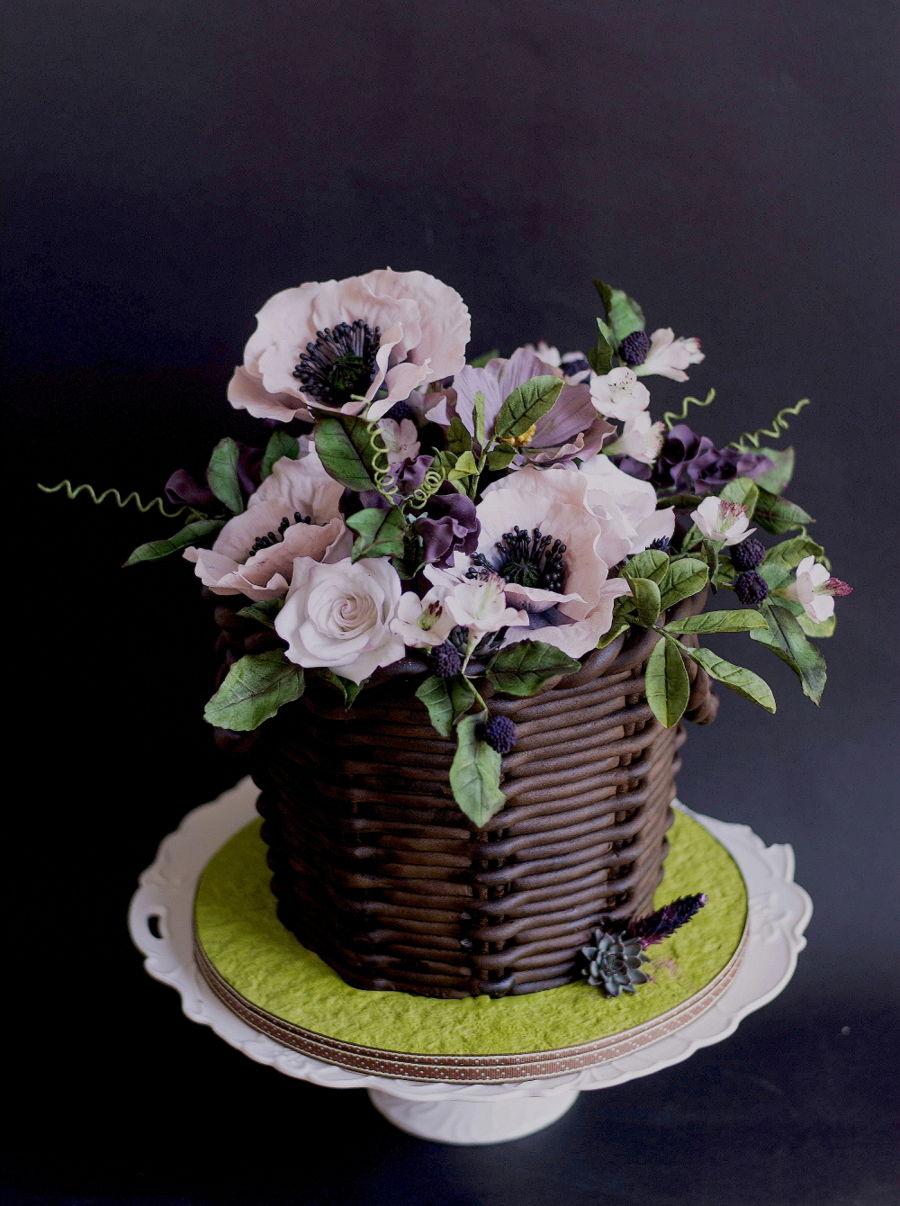 Spring Flower Basket Cakecentral Com