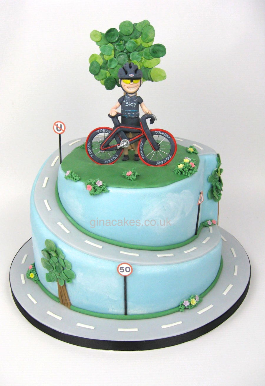 50th Birthday Cyclist Cake Cakecentral Com
