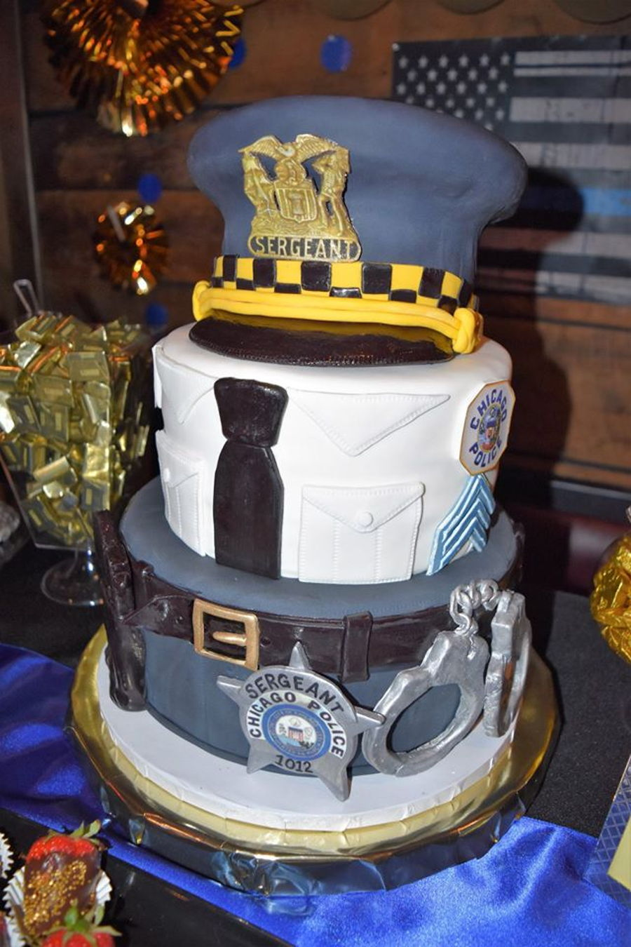 Chicago Police Sergeant Promotional Cake  CakeCentralcom