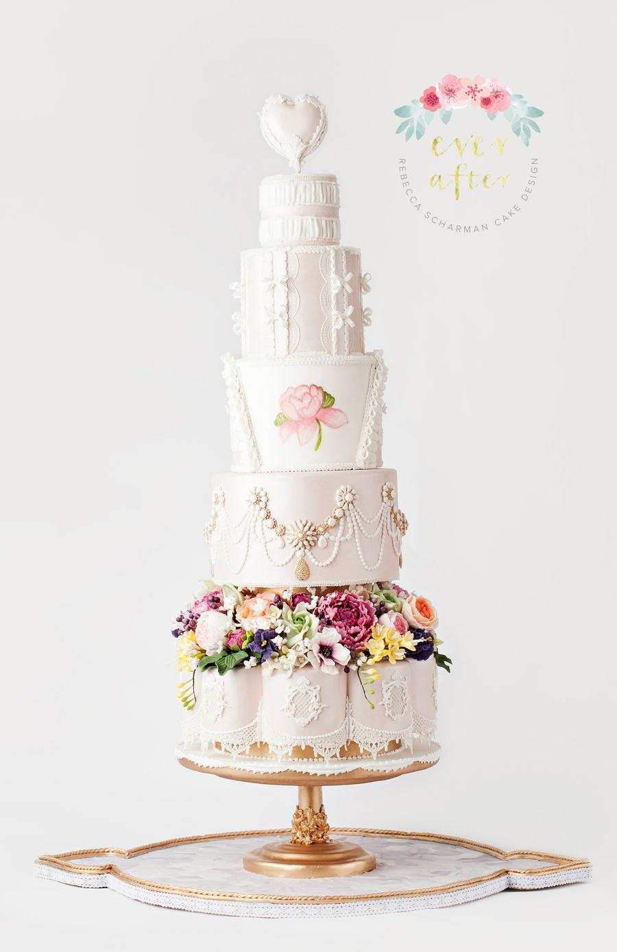 Marie Antoinette Inspired Fashion Cake