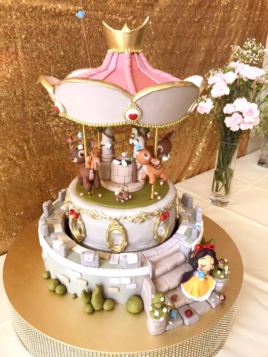 Snow White Themed Automated Carousel Cake Cakecentral Com