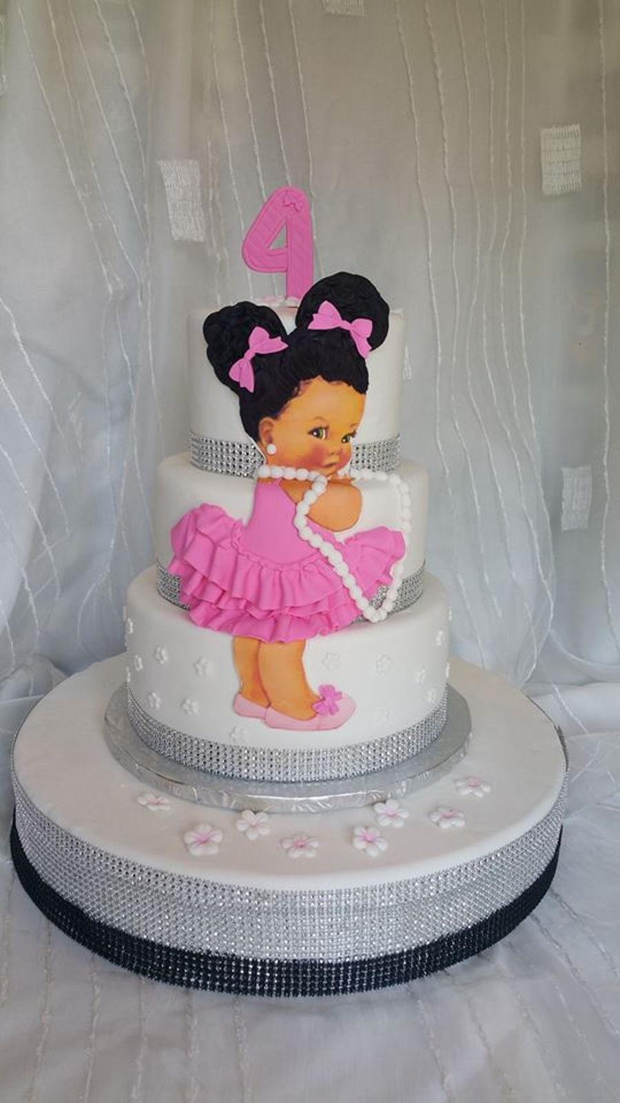 African American Girl Cake  CakeCentralcom