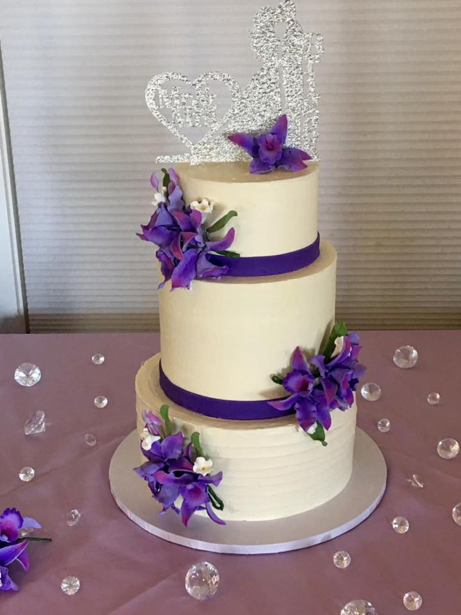 Purple Orchid Wedding Cake Cakecentral Com