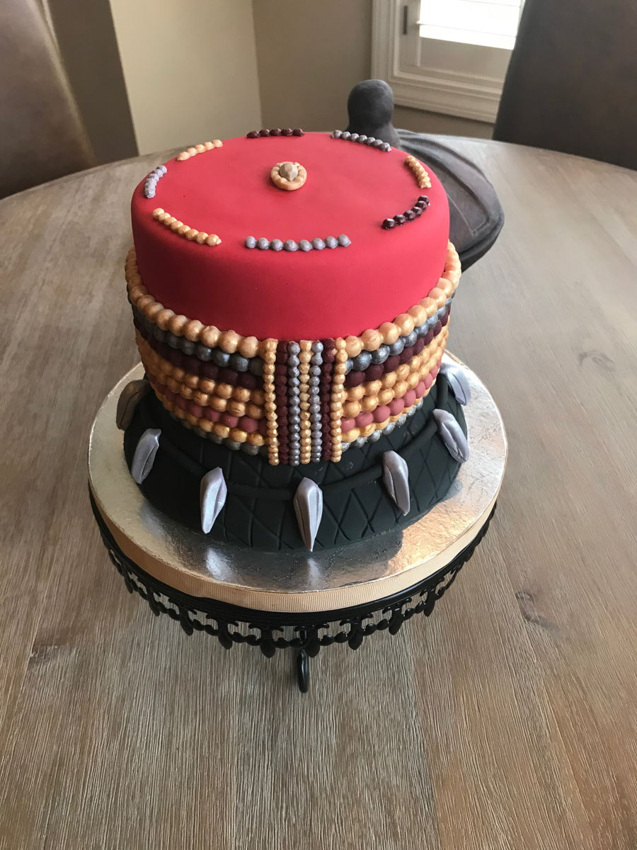 Black Panther Inspired Cake  CakeCentralcom