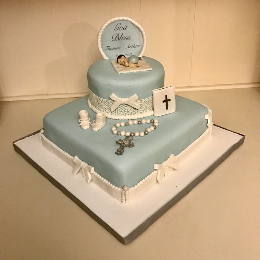 baptism cakes for babies