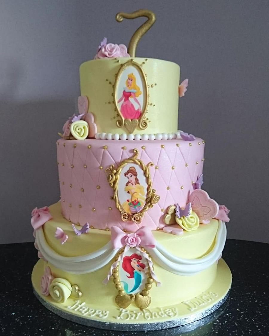Disney Princess Themed Birthday Cake Cakecentral Com