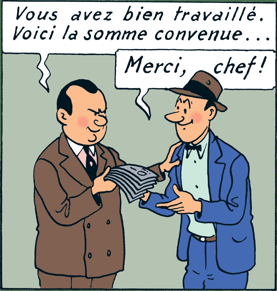 Tintin - Les Aventures de Tintin - Tintin en Amérique - Personnage Al Capone