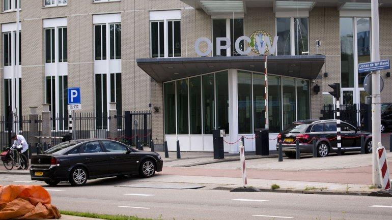 La sede de la OPAQ (OPCW son sus siglas en inglés) en La Haya, Bégica