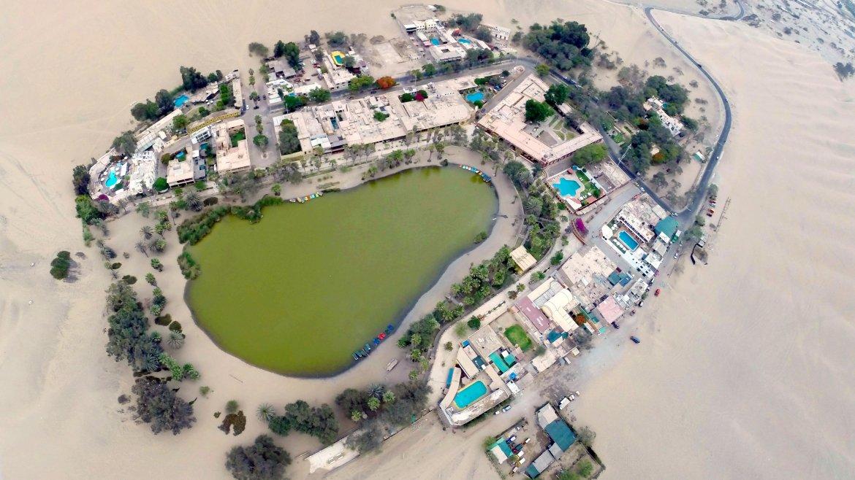 Esta laguna tiene un color verde profundo, que surge de lasaguas de corrientes subterráneasde esta parte del desierto