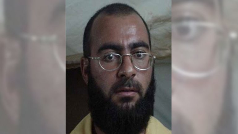 La imagen, capturada en 2004, muestra el rostro de Al-Baghdadi cuando decía ser secretario administrativo
