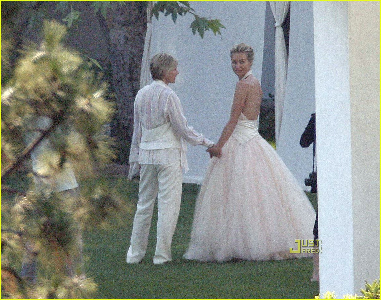 Ellen DeGeneres Wedding Pictures -- FIRST LOOK: Photo