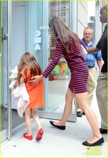 Katie Holmes' Striped Dress
