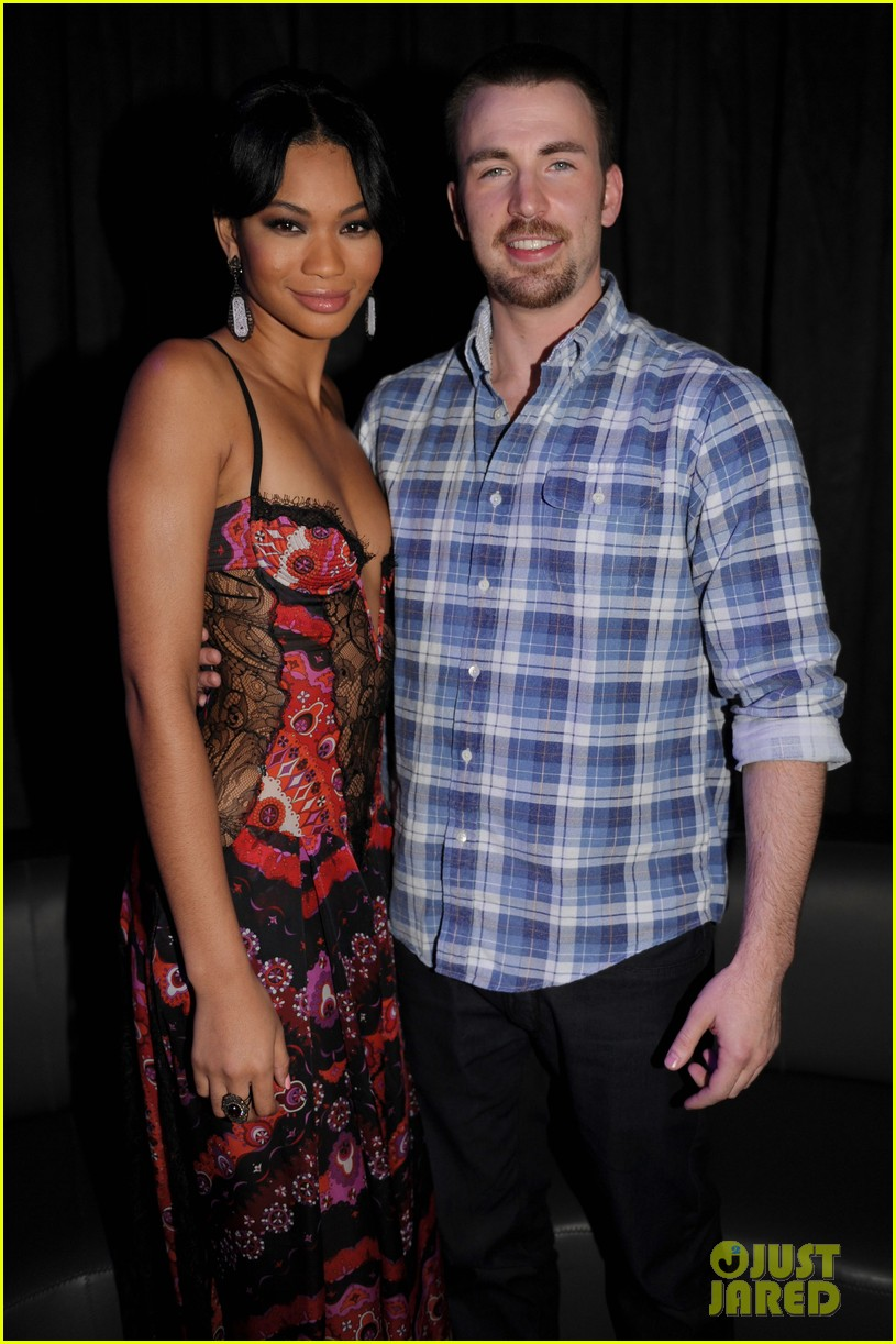 Chris Evans Discovered Launch With Chanel Iman Photo