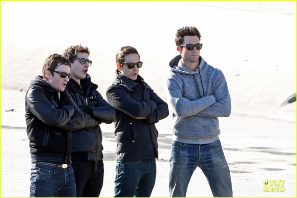 Adam Levine & Andy Samberg Music Video Shoot With Lonely Island 2794523