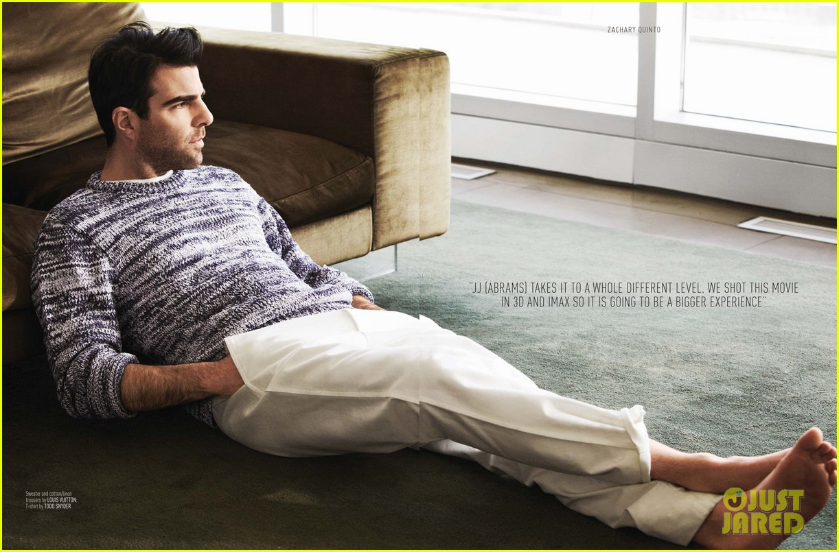 Zachary Quinto Covers August Man May 2013  Exclusive