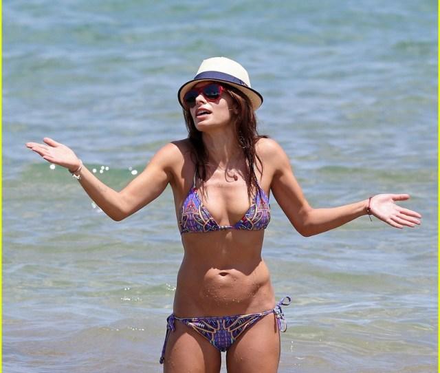 Sarah Shahi Bikini Family Vacation With Shirtless Steve Howey