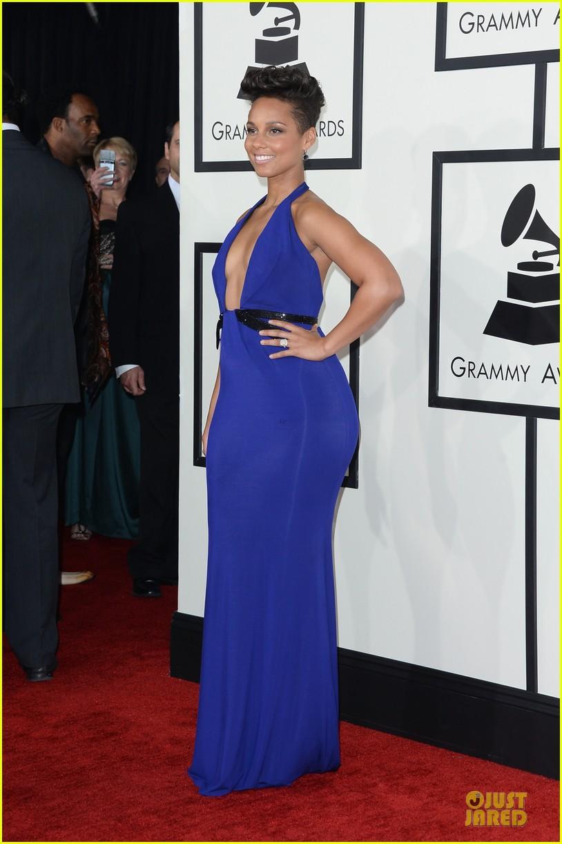 Alicia Keys  Swizz Beatz  Grammys 2014 Red Carpet Photo