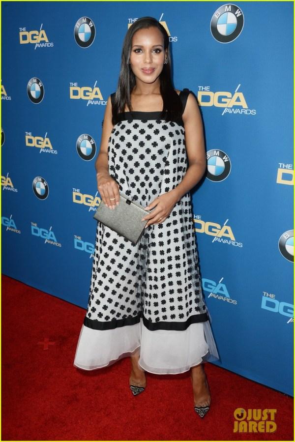 Kerry Washington' Baby Bump Fills Dress Dga Awards 3040263 2014