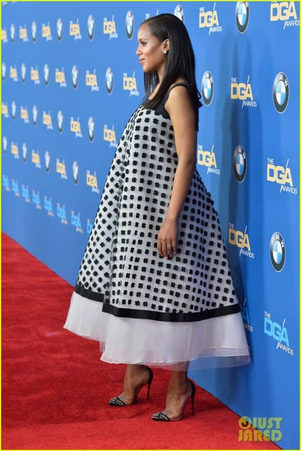 Kerry Washington' Baby Bump Fills Dress Dga Awards 3040264 2014