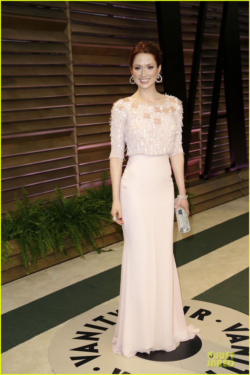 ellie kemper bj novak bring back the office at vanity fair oscars party 2014 03