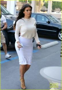 Kim Kardashian White Dress 2014