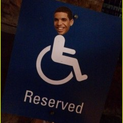 Wheelchair Drake Chair Stool With Footrest S Face On Signs Is A New Trend In Toronto Photo