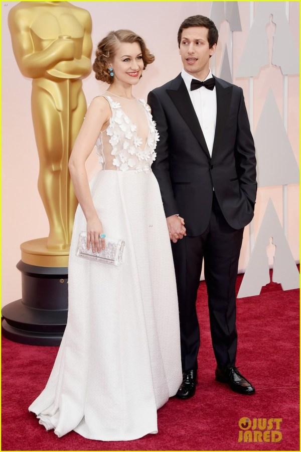 Andy Samberg & Joanna Hold Hands Oscars 2015 3310578