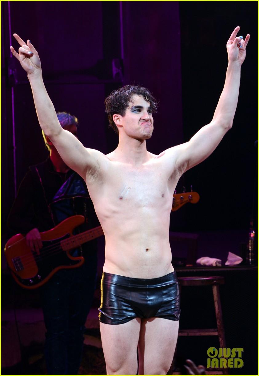 Darren Criss Strips Down Shirtless for First Hedwig Show