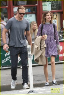 Alexander Skarsgard & Alexa Chung Couple Coffee