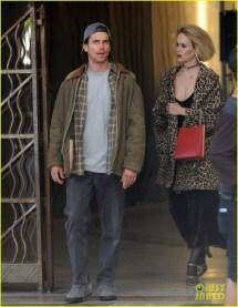 Matt Bomer Films 'ahs Hotel' Scenes With Sarah Paulson