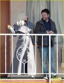 Lady Gaga Makes With Finn Wittrock 'ahs Hotel' Set