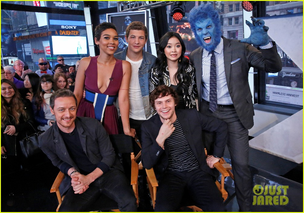 X Men Apocalypse Cast Visit Good Morning America Photo 3665004 Alexandra Shipp Evan