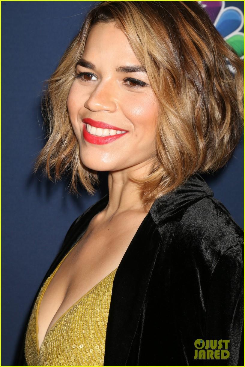 America Ferrera Debuts New Blonde Hair At NBC Amp Vanity