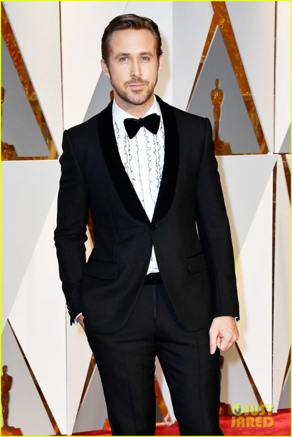Ryan Gosling Gucci Handsome Oscars 2017 Red Carpet