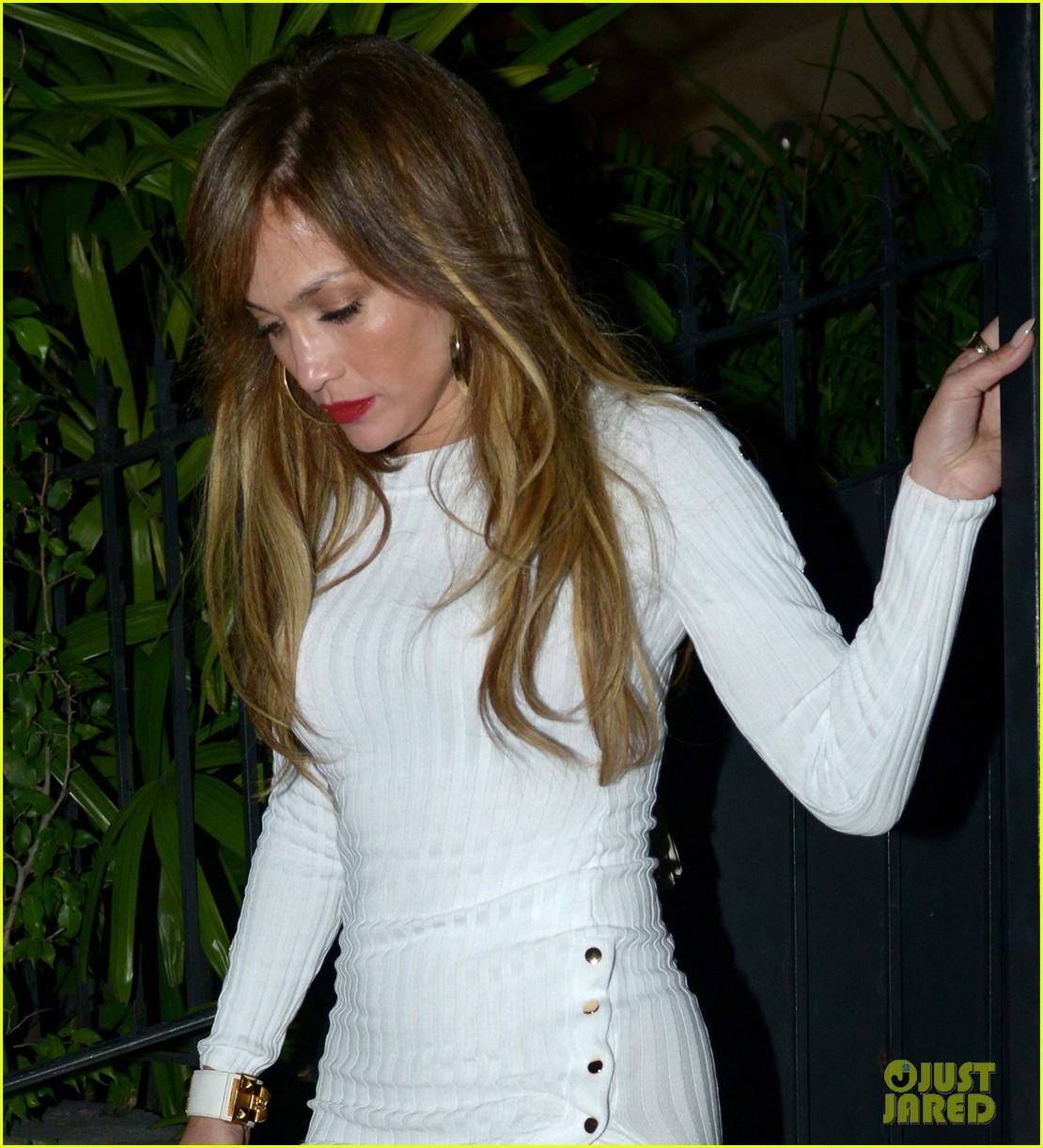 Jennifer Lopez Wears FormFitting Dress for Date Night