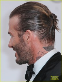 David Beckham Pulls Hair Amfar Cannes Gala