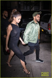 Selena Gomez Wears Sheer Dress Date With Weeknd