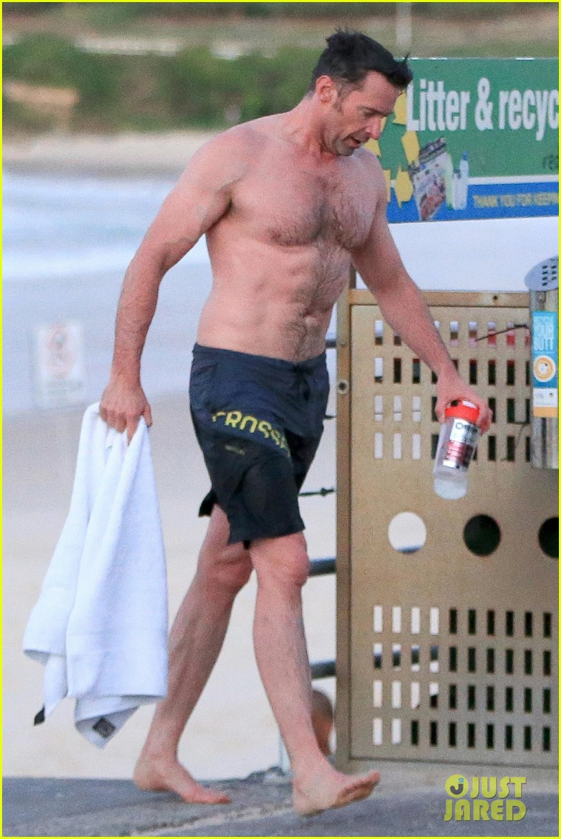 Hugh Jackman Bares His Hot Body During An Outdoor Shower
