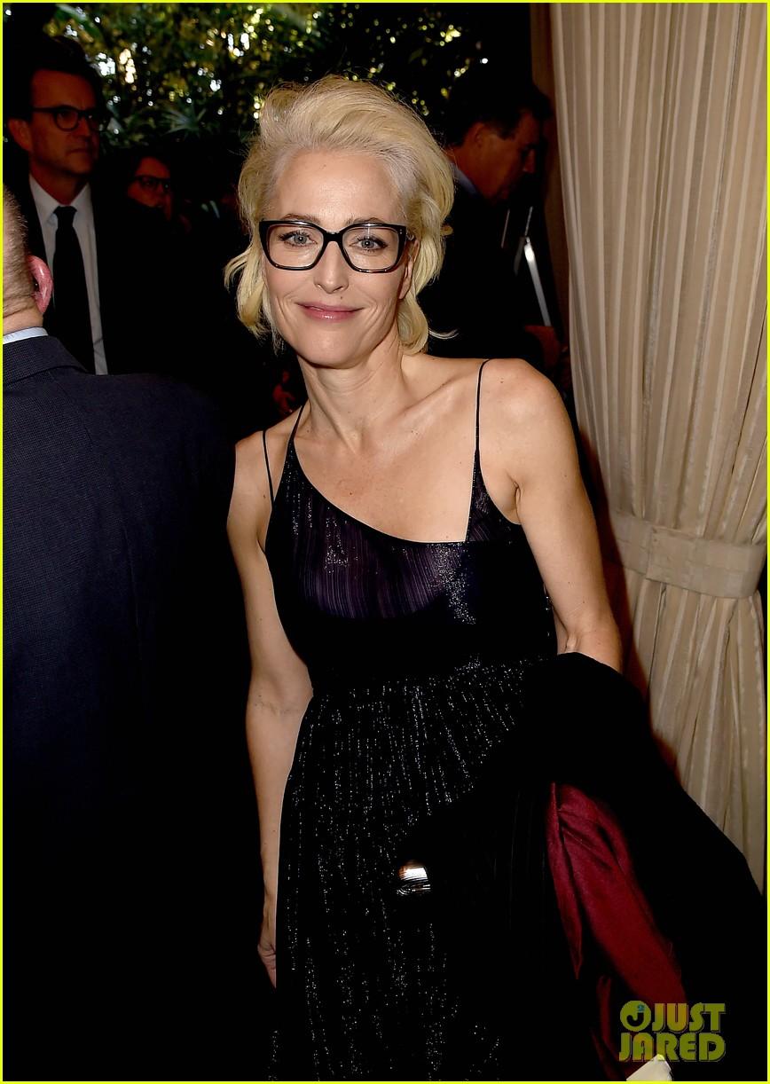 Gillian Anderson Supports Boyfriend Peter Morgan At AFI
